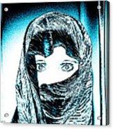 Blue Eye Lady Acrylic Print
