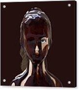 Blue Eye Of A Chocolate Doll Acrylic Print