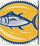 Blue Fin Tina Side Retro Acrylic Print by Aloysius Patrimonio