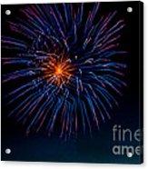 Blue Firework Flower Acrylic Print