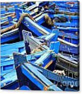 Blue Fishing Boats Acrylic Print