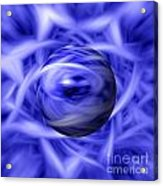 Blue Flame Background Acrylic Print