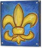 Blue Fleur De Lis Acrylic Print