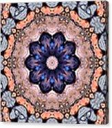 Blue Flora Mandala Acrylic Print