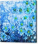 Blue Floral Fantasy Acrylic Print