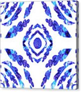 Blue Floral Pattern II Acrylic Print