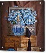Blue Flower Still Life Acrylic Print