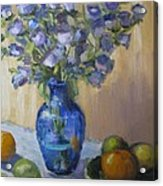 Blue Flowers And Fruit Acrylic Print