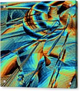 Blue Flowpaper Solarized Acrylic Print