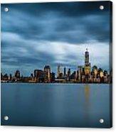 Blue Freedom Tower Acrylic Print