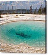 Blue Funnel Spring In West Thumb Geyser Basin Acrylic Print