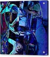 Blue Gears Collage Acrylic Print