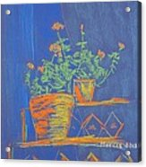 Blue Geranium Acrylic Print by Marcia Meade