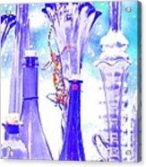 Blue Glass And Gecko Acrylic Print