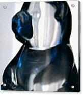 Blue Glass Bear Acrylic Print
