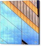 Blue Glass Reflections 4999 Acrylic Print