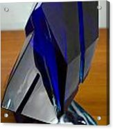 Blue Glass Sculpture Acrylic Print