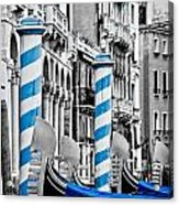 Blue Gondolas Acrylic Print