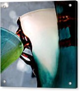 Blue Green Art Glass 2 Acrylic Print by Judy Paleologos
