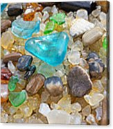 Blue Green Seaglass Coastal Beach Baslee Troutman Acrylic Print by Baslee Troutman
