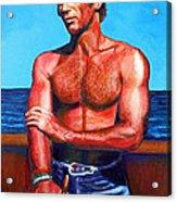 Blue Grotto Boatman Acrylic Print