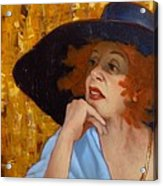 Blue Hat Acrylic Print