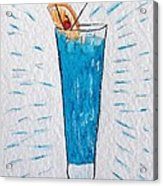 Blue Hawaiian Cocktail Acrylic Print