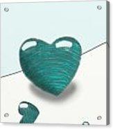 Blue Hearts Acrylic Print