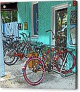 Blue Heaven Key West Bicycles Acrylic Print