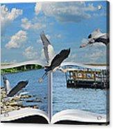 Blue Heron Storybook Acrylic Print