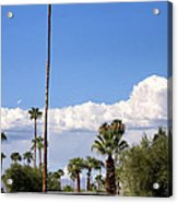 Blue Horizon Palm Springs Acrylic Print