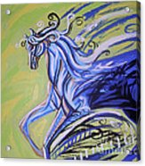 Blue Horse Acrylic Print by Genevieve Esson