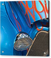Blue Hot Rod Acrylic Print