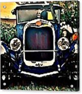 Blue Hot Rod Acrylic Print by Stanley  Funk