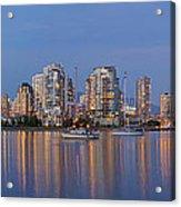 Blue Hour At False Creek Vancouver Bc Canada Acrylic Print