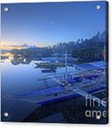 Blue Hour At Panglao Port Acrylic Print
