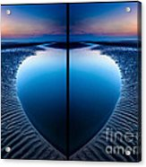 Blue Hour Diptych Acrylic Print