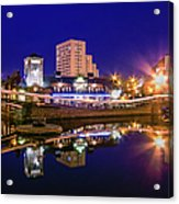 Blue Hour In Birmingham Acrylic Print