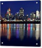 Blue Hour In Cincinnati Acrylic Print