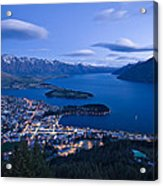 Blue Hour In Queenstown Acrylic Print