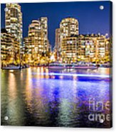 Blue Hour In Vancouver Acrylic Print