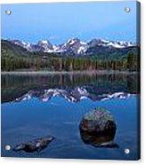 Blue Hour On Sprague Lake Acrylic Print