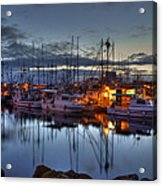Blue Hour Acrylic Print by Randy Hall