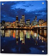 Blue Hour Reflection II Acrylic Print