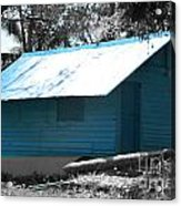 Blue House  Acrylic Print by Bobby Mandal