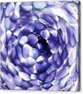 Blue Hue Whirlpool Acrylic Print
