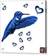 Blue Hummingbird - 2055 F S M Acrylic Print