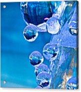 Blue Ice Bubbles Acrylic Print