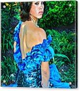 Blue Ice Princess Acrylic Print