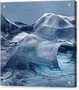 Blue Ice Sculpture Acrylic Print